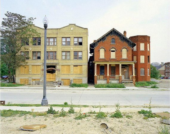Fig. 1: Two of the buildings Detroit will reportedly pay a purchaser to buy